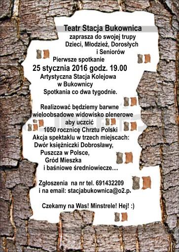 Plakat Chrzest teatr