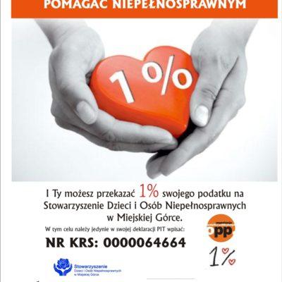 Stowarzyszenie Dzieci i Osób Niepełnosprawnych w Miejskiej Górce - 1%