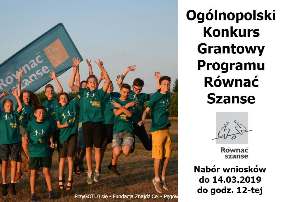 Ogólnopolski Konkurs  Grantowy Programu Równać Szanse 2019