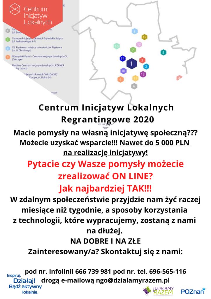 CIL Regrantingowy 2020 działania on-line