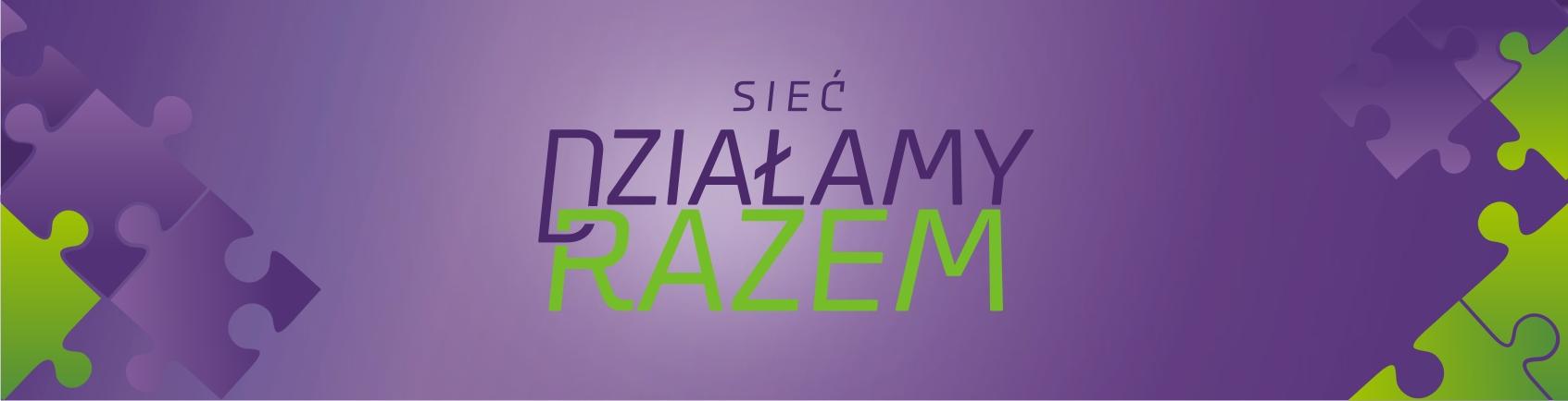 Baner z logo Wielkopolskiej Sieci Organizacji Pozarządowych Działamy Razem