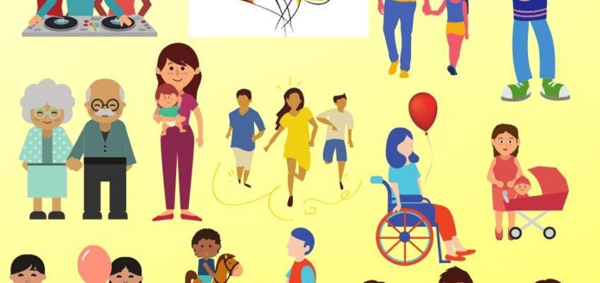 Infografika przedstawiająca rodzinę w projekcie CDR2