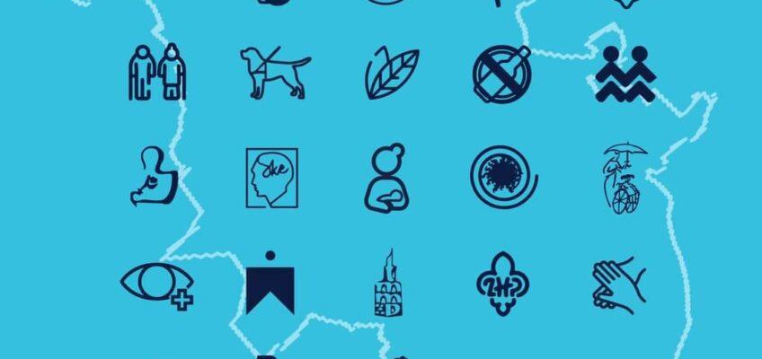 Piktogramy poznańskich organizacji biorących udział w Dniu Organizacji Pozarządowych w 2020 r.